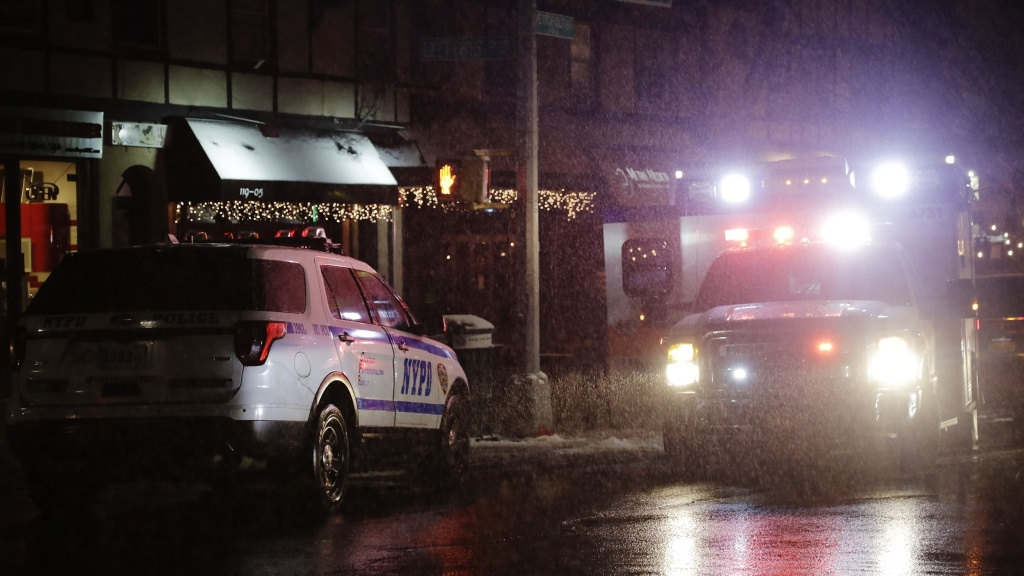 Emergency vehicles in the Queens borough of New York on Feb. 20. The shrill drone of the sirens lies at the center of a bill by two city lawmakers to transition to new siren sounds.