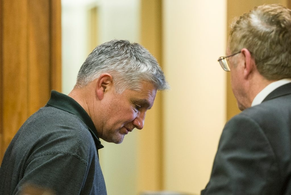 File: Robert Pimentel (CQ), left, a former fourth-grade teacher, with his defense attorney, Richard Knickerbocker, right, as he is arraigned in Los Angeles Superior Court in Long Beach, Calif., on Thursday, Jan. 24, 2013.