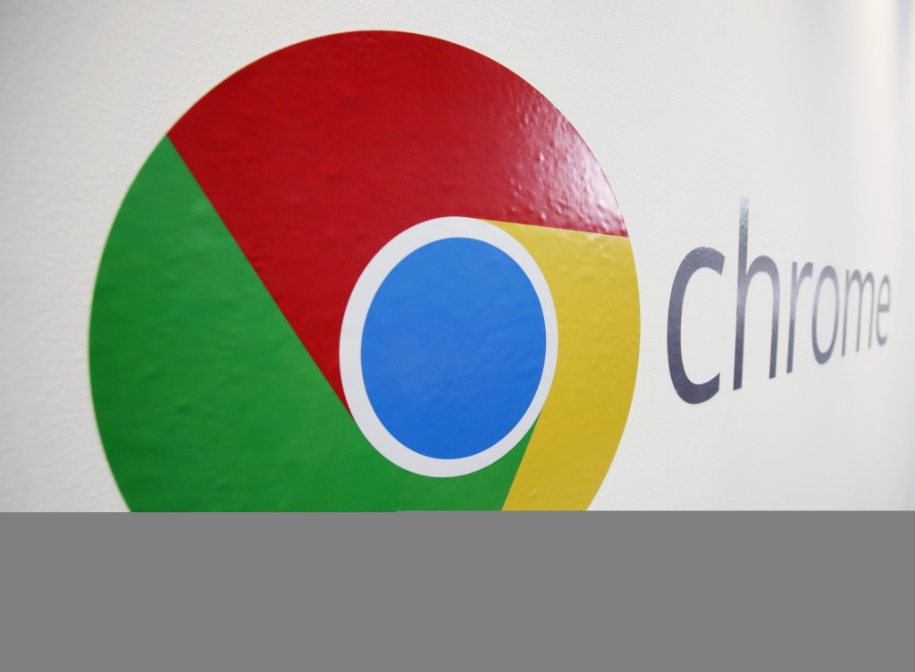 In this , Tuesday, Oct. 8, 2013, file photo, the Chrome logo is displayed at a Google event in New York. Google reported its quarterly earnings on Thursday, Oct. 17, 2013.