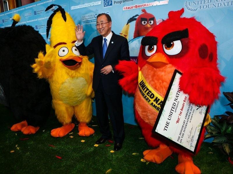 U.N. Secretary-General Ban Ki-moon poses after naming