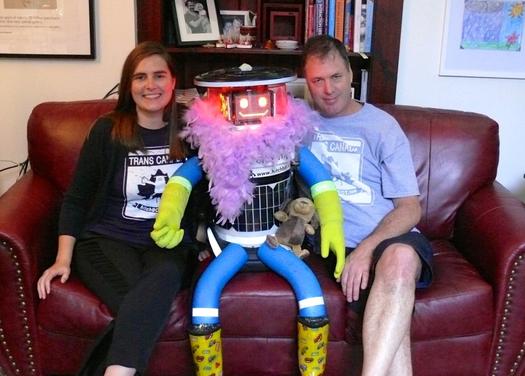 HitchBot stopped in to visit its