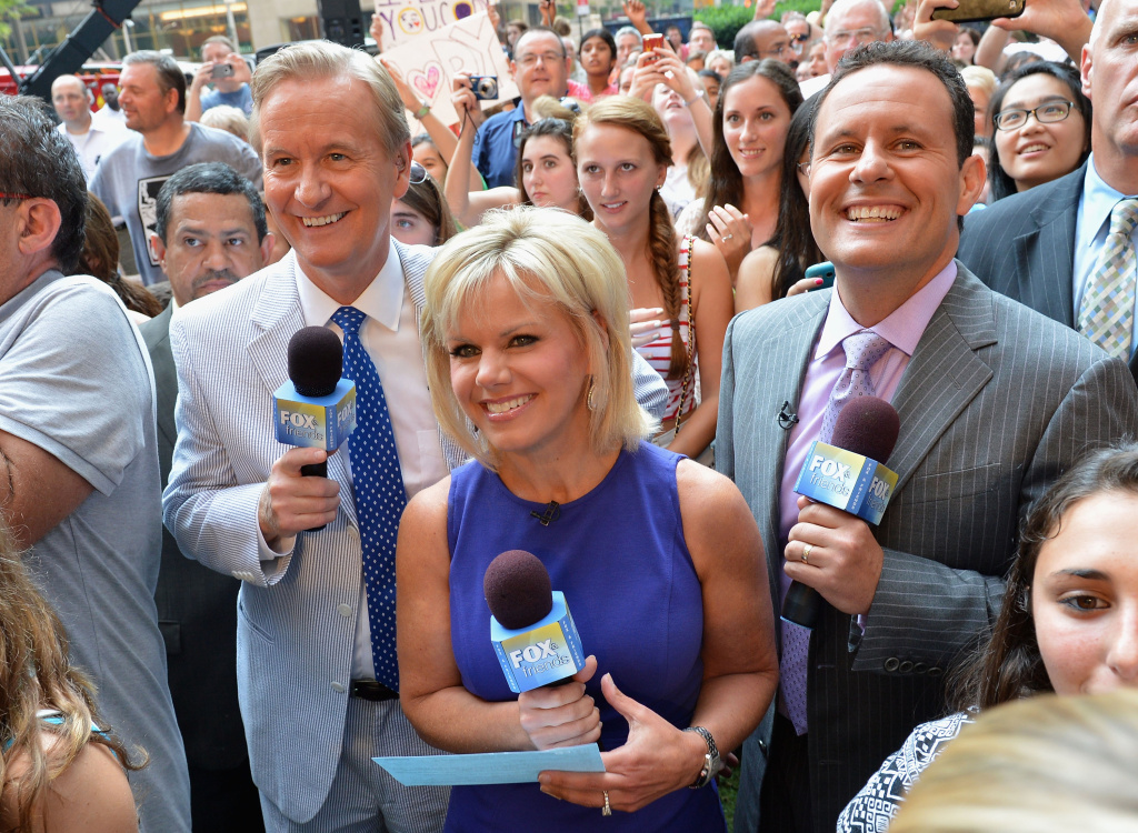 (L-R) Fox & Friends hosts Steve Doocy, Gretchen Carlson and Brian Kilmeade during