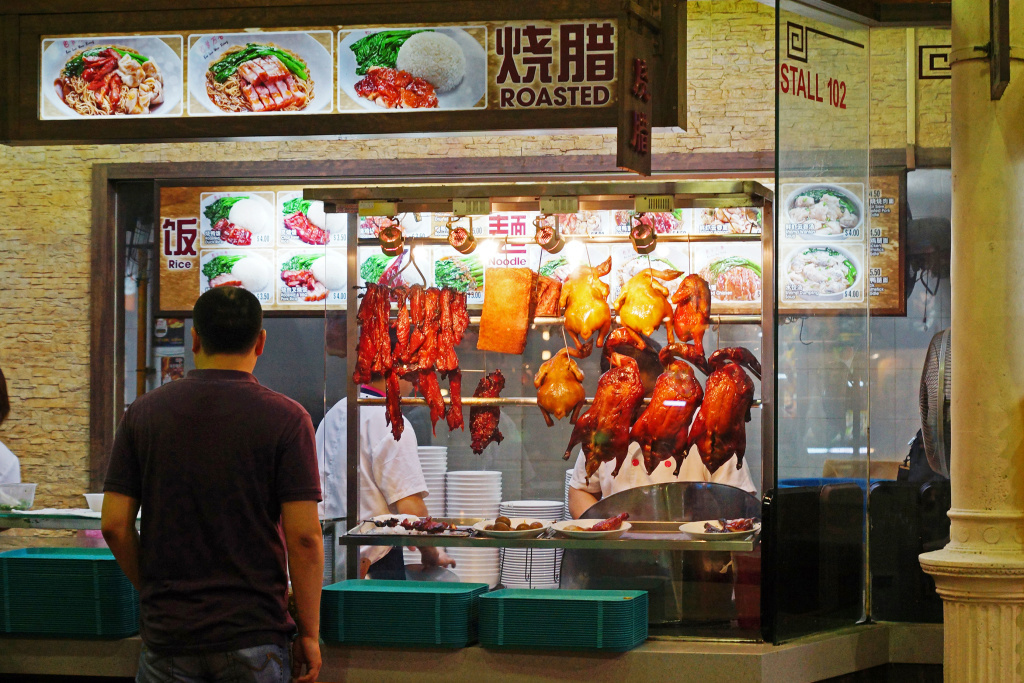A food market in Singapore in 2012. The U.S. government says that American farmers can help