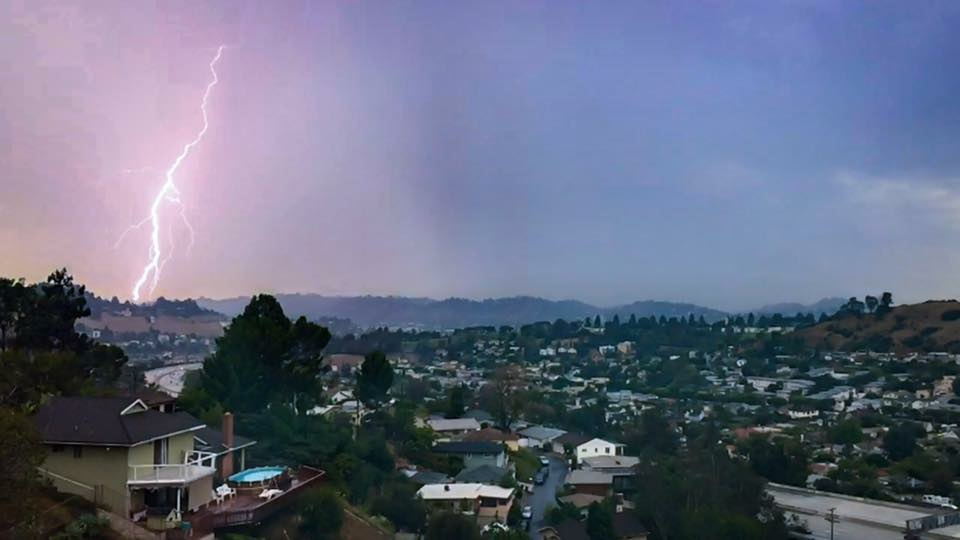 Lighting captured by our Facebook friend Martin Morales in the last Southern California thunderstorm earlier in July.