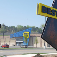 A Best Buy sign.