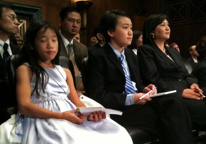 Judge Jacqueline Nguyen at Senate Judiciary Committee confirmation hearing, Nov. 2, 2011.
