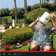 "U.S. Ambassador to Israel Daniel Shapiro accepting the ALS ""Ice Bucket Challenge."" Soon after, the State Department warned that participation by high-profile diplomats was a violation of internal policy."