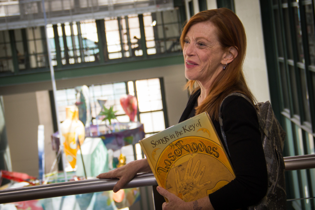 Susan Orlean  in the atrium at the L.A. Central Library.