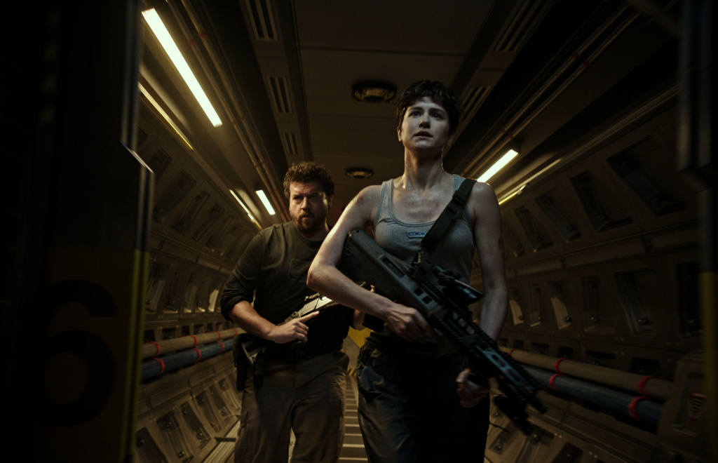 (L-R) Danny McBride (Tennessee) and Katherine Waterston (Daniels) star in