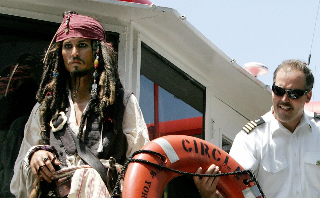 This is a wax figure of Jack Sparrow.