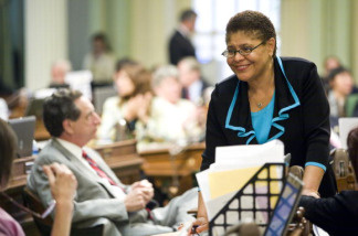 California Assembly Speaker Karen Bass (D-Los Angeles).