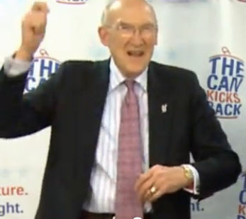 "Former U.S. Senator Alan Simpson goes 'Gangnam Style' in an effort to get young people interested in the ""Fiscal Cliff."""