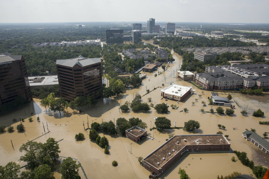 Some parts of southeastern Texas are moving toward recovery, while others, like the west side of Houston, remain underwater.