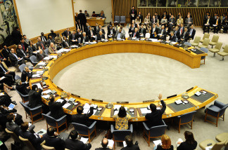 UN Security Council members vote on broader military and financial sanctions on Iran over its suspect nuclear program during a UN Security Council at the UN headquarters June 9, 2010 in New York.