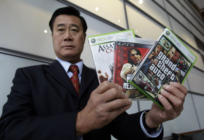 Former California state Senator Leland Yee was arrested for bribery and gun running, all while campaigning against violent video games in the state Senate.