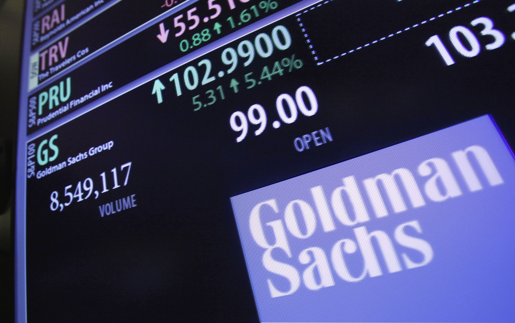 The price of Goldman Sachs stock is shown at a trading post on the floor of the New York Stock Exchange Wednesday, Jan. 18, 2012. CEO Lloyd Blankfein recently gave a revealing (sort of) interview to Bloomberg.