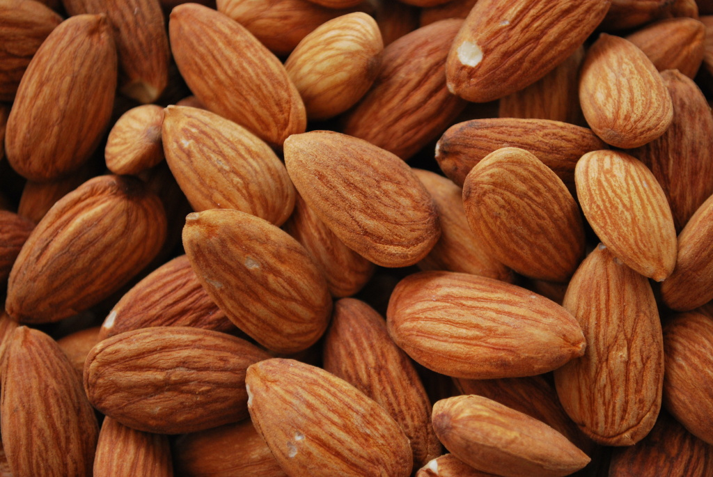 Drought-stricken California produces 80 percent of the world's supply of almonds.