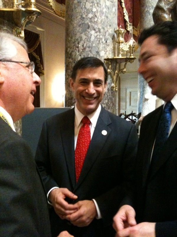 GOP Congressman Darrell Issa (center) publicly supports citizenship for some undocumented immigrants.