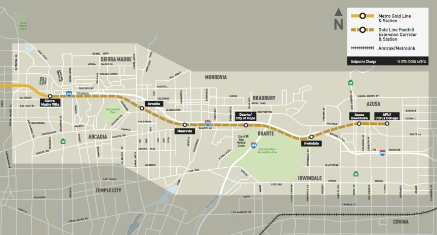 Metro Gold Line Extension Map Map: Metro officials announce March start date for Gold Line
