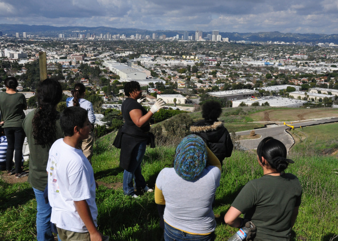A dozen Dorsey High School students participate in L.A. Audubon's conservation program in Baldwin Hills. Those who take part have a 100 percent college acceptance rate.