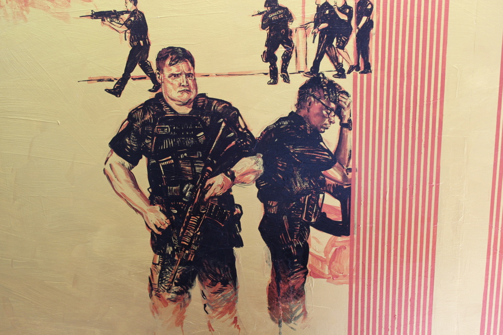 Dallas Police Officers in a new piece in progress.