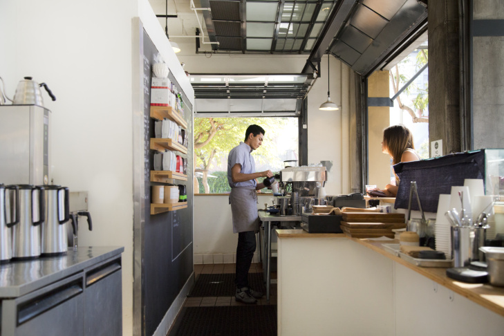 Go Get Em Tiger coffee shop in Larchmont Village (from the book