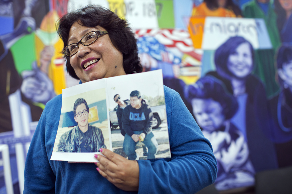 Marita Beteta of San Fernando is the mother of two DACA recipients. Beteta attended a press conference at the Coalition for Humane Immigrant Rights of Los Angeles on Monday morning, Nov. 17, 2014. The conference addressed President Barack Obama's expected executive order on immigration this week.