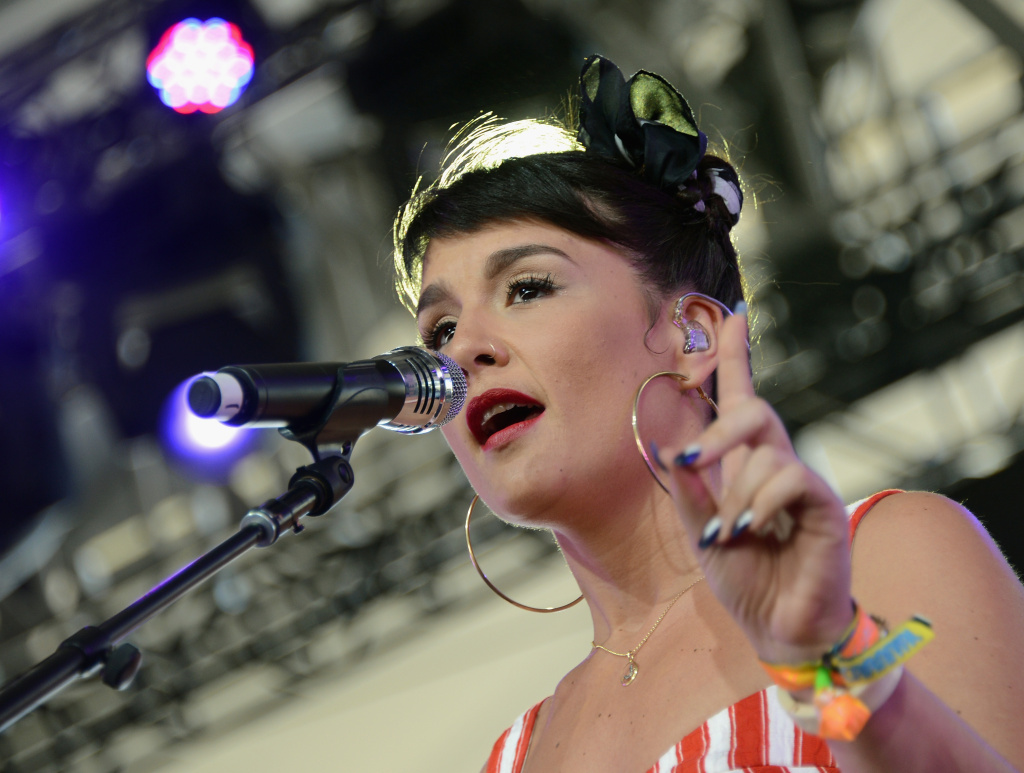 Musician Jessie Ware performs onstage during day 3 of the 2013 Coachella Valley Music And Arts Festival at The Empire Polo Club on April 14, 2013 in Indio, California.