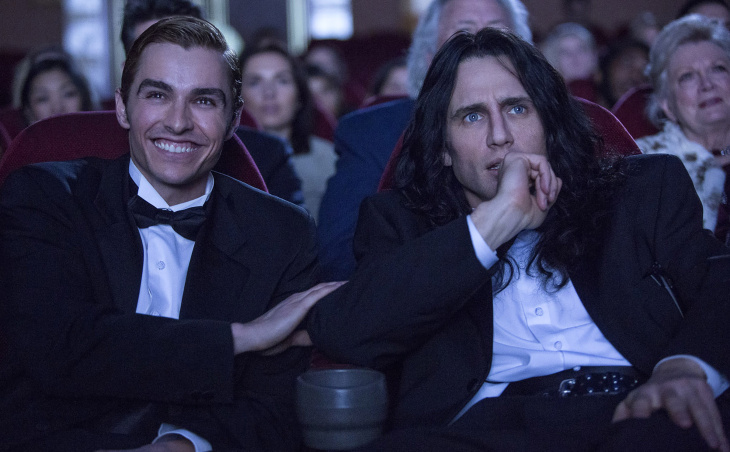 Dave Franco, left, as Greg Sestero and James Franco as Tommy Wiseau in