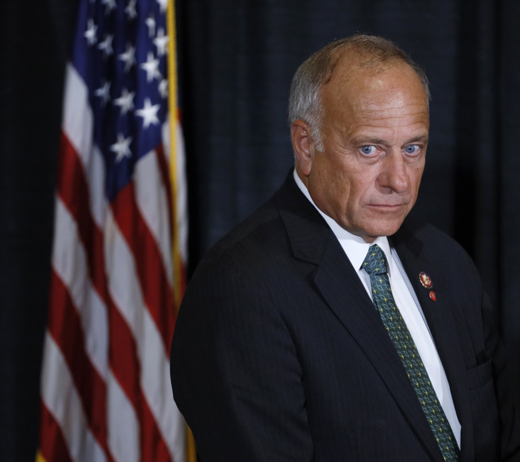 Rep. Steve King, shown here during a news conference in August 2019, faced criticism for his comments on abortion, including when he questioned whether there would be