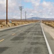 A road in Lancaster, Calif.