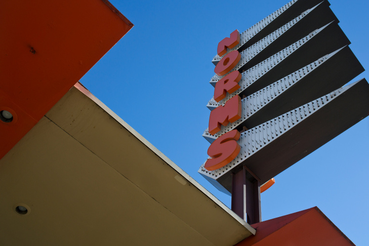 New owners have a demolition permit for the iconic Norms Restaurant building on La Cienega. The structure is representative of the Googie architecture movement which originated in Southern California.