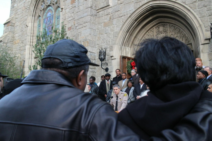 Pastors, politicians and residents of Pasadena and Altadena gathered at a peace rally Sunday afternoon. It follows a Christmas Day shooting that killed a Los Angeles Sheriff's Department employee and that authorities have suggested may be linked to criminal street gangs.