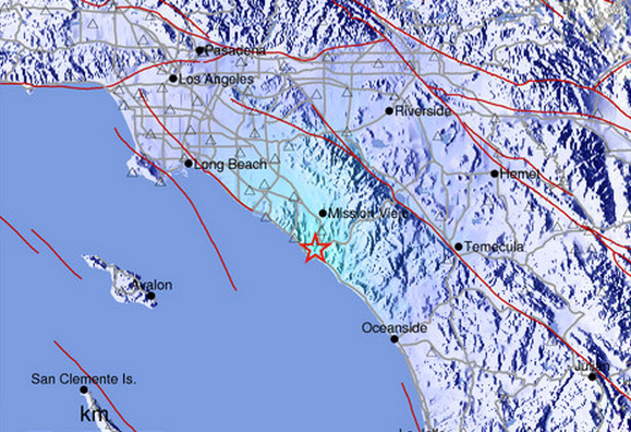 A 3.9 quake was recorded about a mile from San Juan Capistrano around 10:37 a.m. Many people in Orange County said they felt a huge jolt.