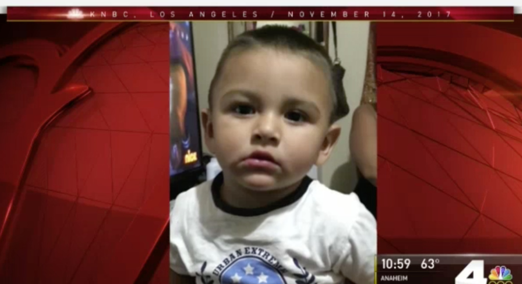 An Amber Alert has been issued for 15-month-old Noe Reyna, who was last seen Tuesday, Nov. 15, 2017.