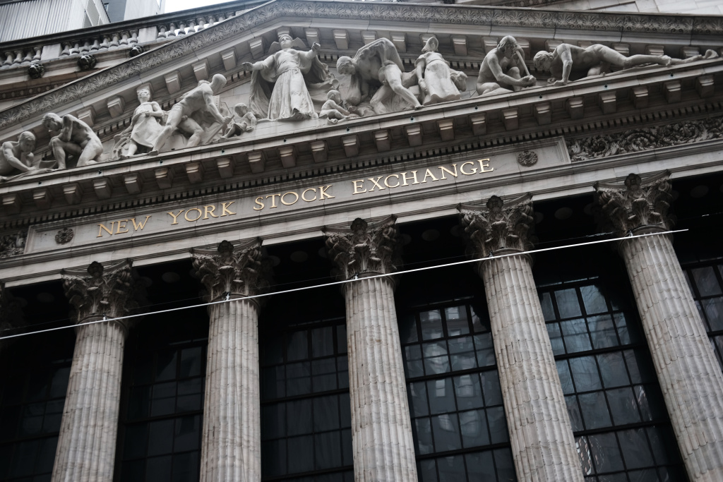 The New York Stock Exchange (NYSE) stands in lower Manhattan on January 03, 2019 in New York City.