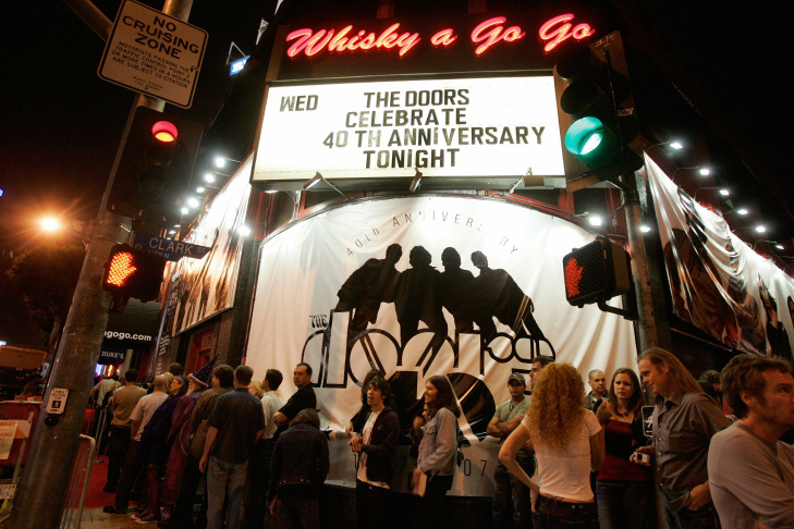 People queue at the Whisky A Go-Go to at