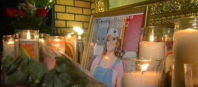 A Jenni Rivera memorial in Lynwood.