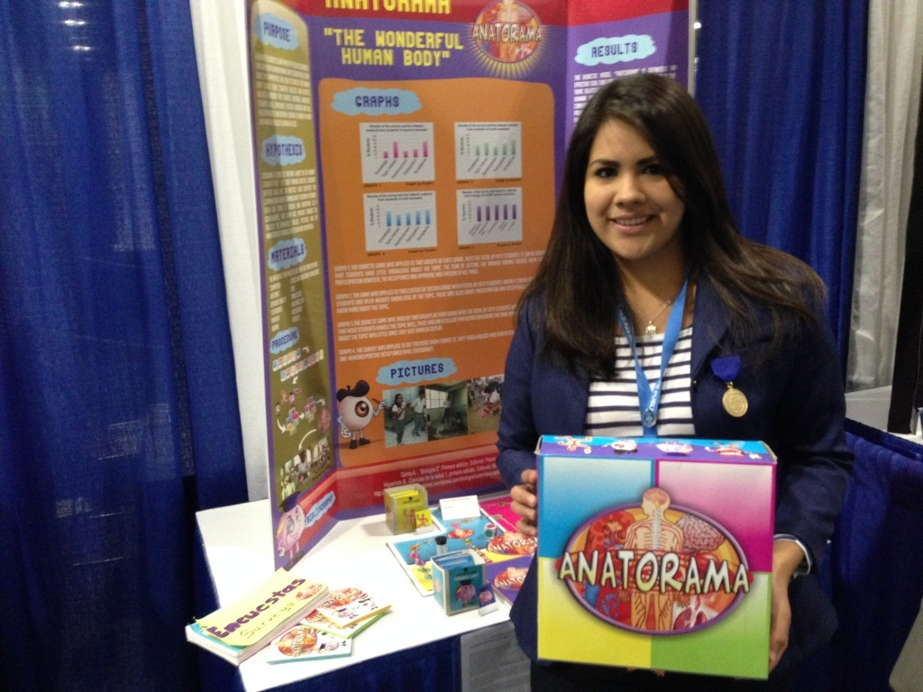 High school senior Marisol Leon Cruz from Mazatlan, Mexico, created a biology-teaching game that earned her a place in the Intel International Science and Engineering Fair.