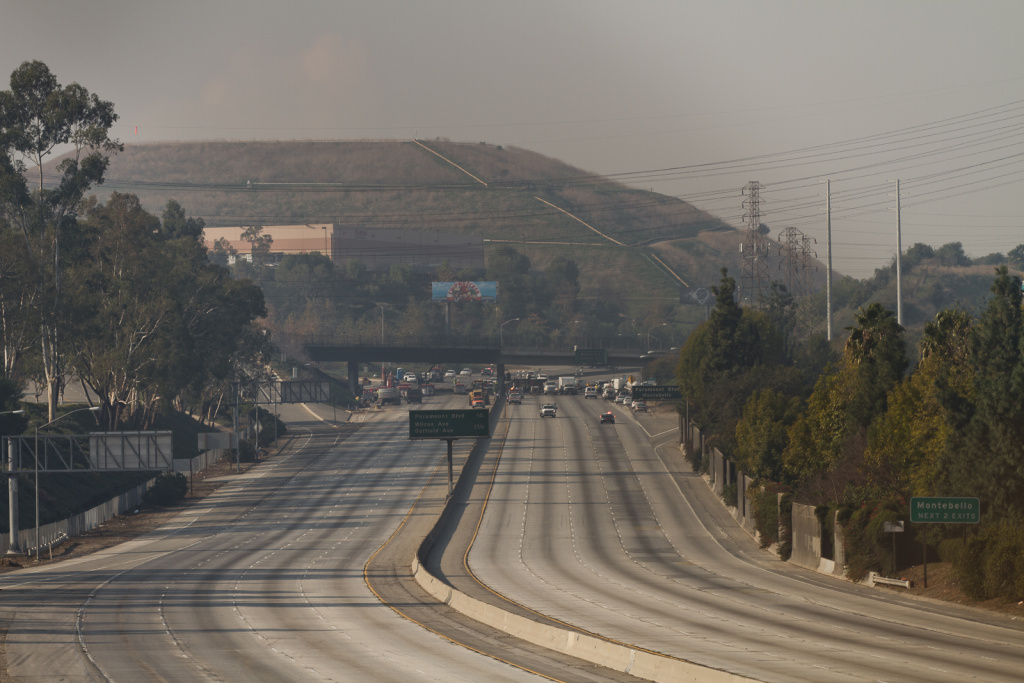 An eight-mile stretch of the 60 Freeway was closed after a truck fire.
