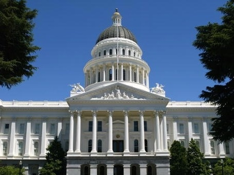 The California state capitol in Sacramento, California.