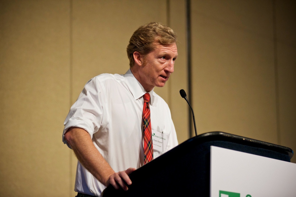 Tom Steyer, founder and Co-Senior Managing Partner of Farallon Capital Management. He is one of the incentive's top supporters.