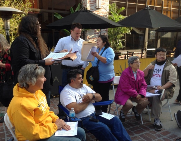 Activists from churches, labor organizations and an Asian advocacy group are fasting together in Brea through Friday. They say it was a strategic decision to conduct the fast in Orange County.