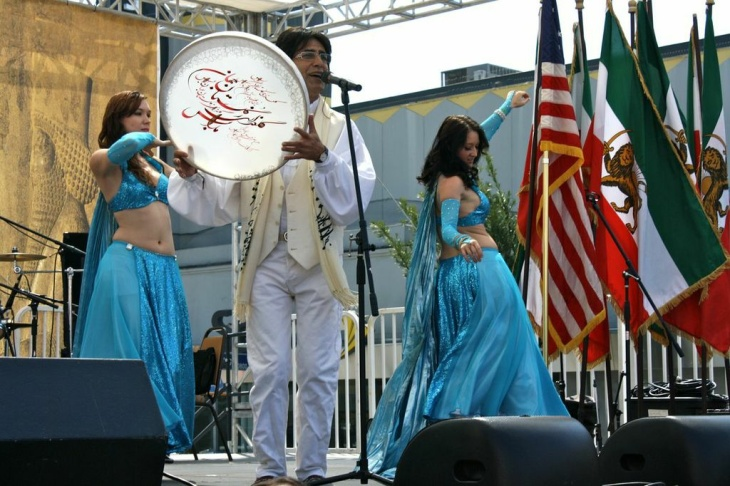 Dancers celebrate Nowruz — the Iranian new year — on Sunday, March 24, 2013.