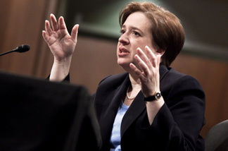 U.S. Supreme Court nominee Elena Kagan answers questions from members of the Senate Judiciary Committee on the third day of her confirmation hearings on Capitol Hill June 30, 2010 in Washington, DC.