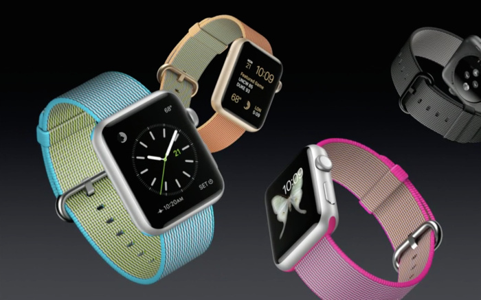 Apple announced a new line of colorful sport, leather and nylon bands for the Apple Watch.