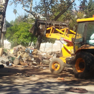 A major clean up of the Arroyo Seco riverbed is underway near South Pasadena.