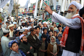 Pakistani seminary students gather during an anti-US rally in Quetta on May 4, 2011, against the killing of Osama bin Laden.