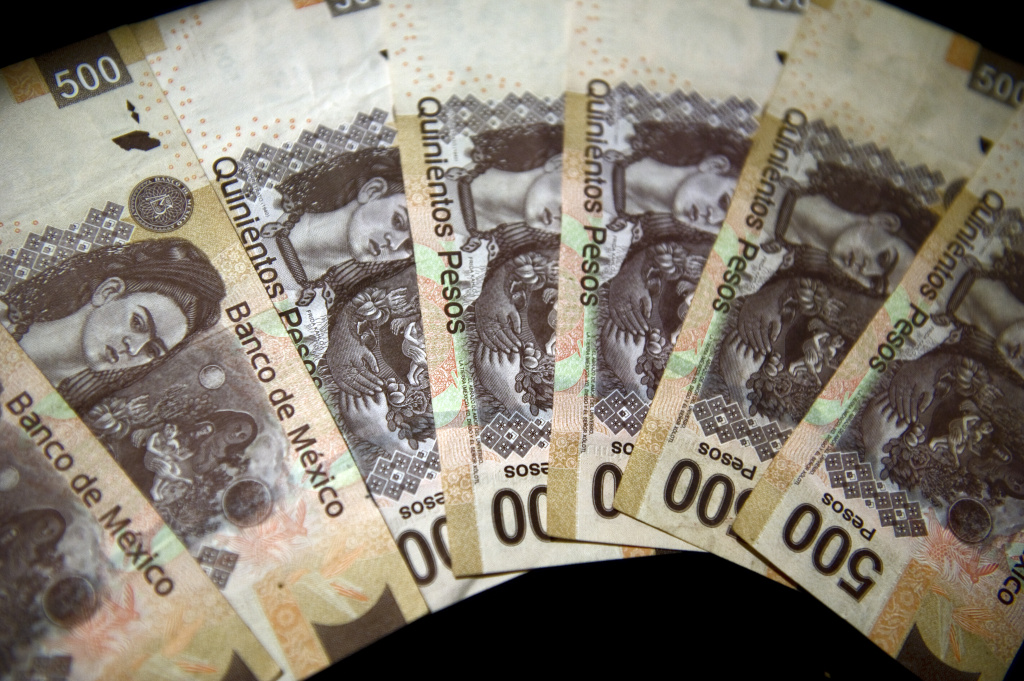 Picture of the Mexican five hundred peso note taken on December 27, 2011 in Mexico City.