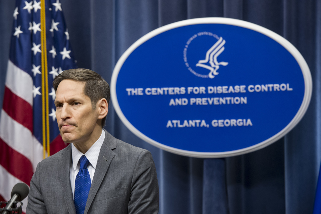 Centers for Disease Control and Prevention Director Dr. Tom Frieden speaks at a news conference, Sunday Oct. 12, 2014, in Atlanta. Top federal health officials said Sunday that the Ebola diagnosis in a health care worker who treated Thomas Eric Duncan at a Texas hospital clearly indicates a breach in safety protocol. But the unidentified worker has been unable to pinpoint where that breach might have occurred, according to Frieden.